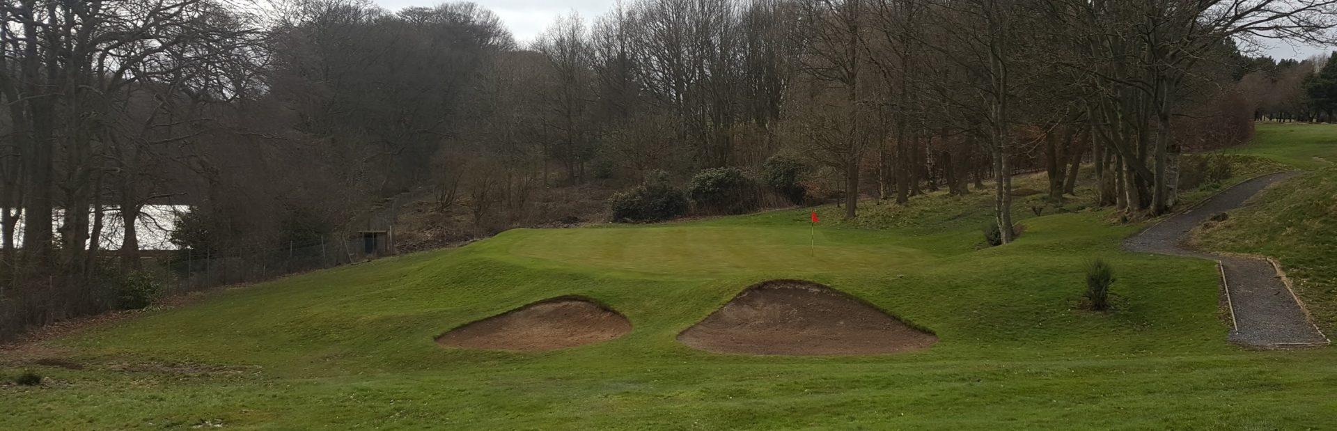The 14th green at West Bradford Golf Club