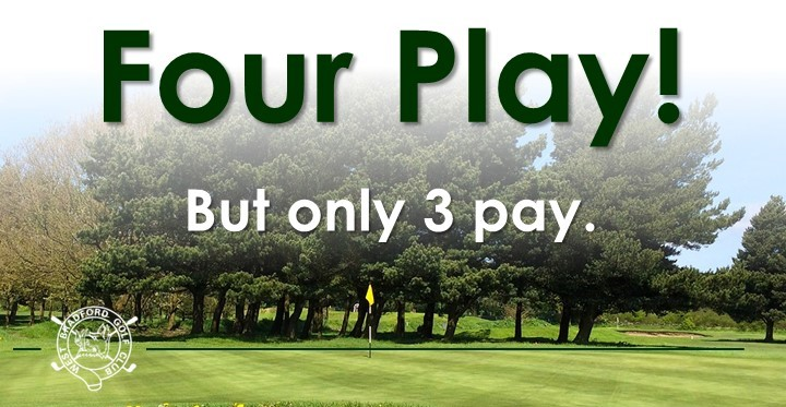 Four Play, but only three pay offer