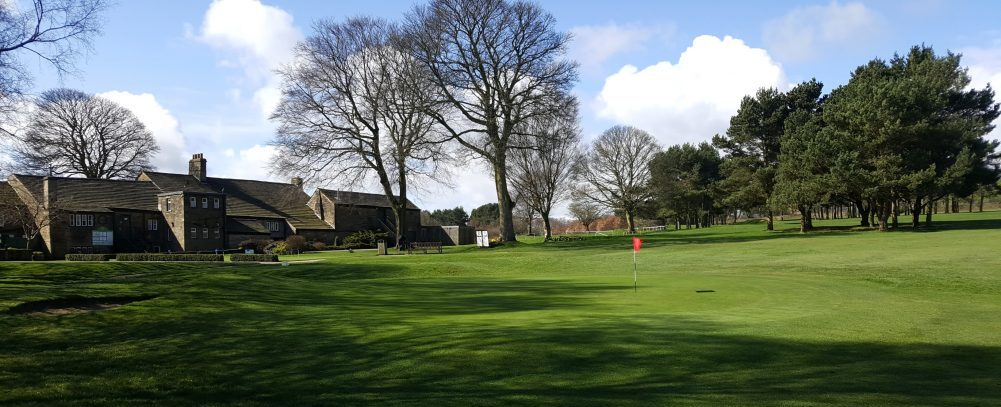 The Practice Chipping Green, complete with bunker at West Bradford Golf Club