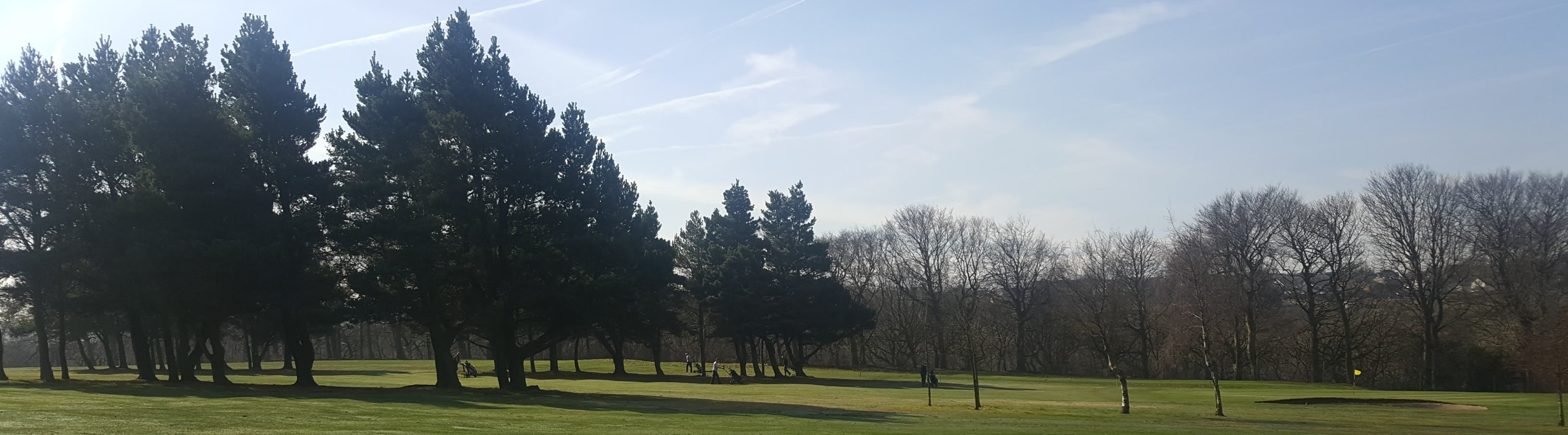 Looking across the open fairways at West Bradford Golf Club