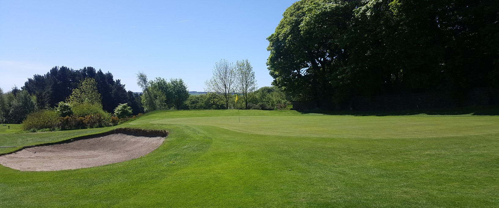 The 2nd green at West Bradford Golf Club