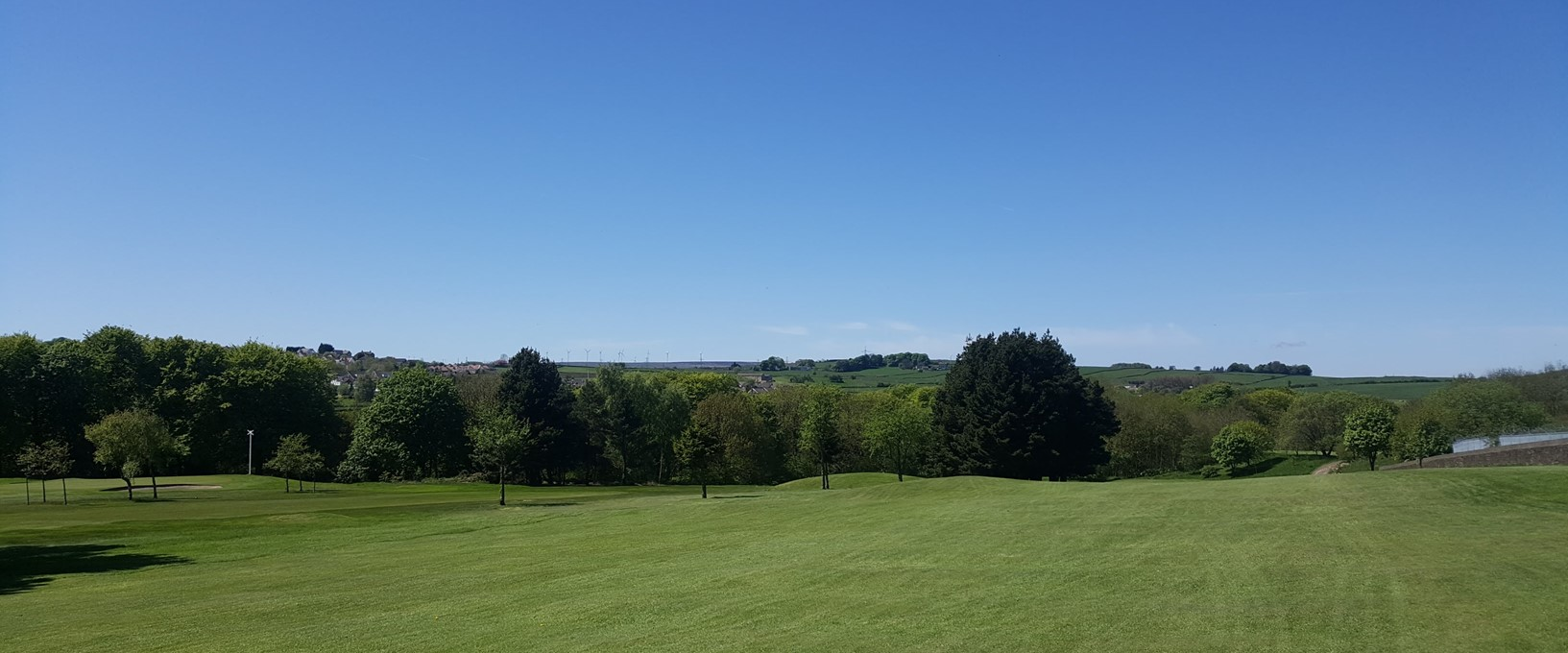 Great views over West Yorkshire, from fairway 3, West Bradford Golf Club