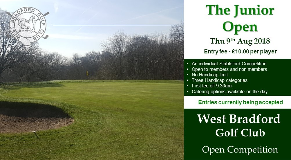 The Junior Open at West Bradford Golf Club