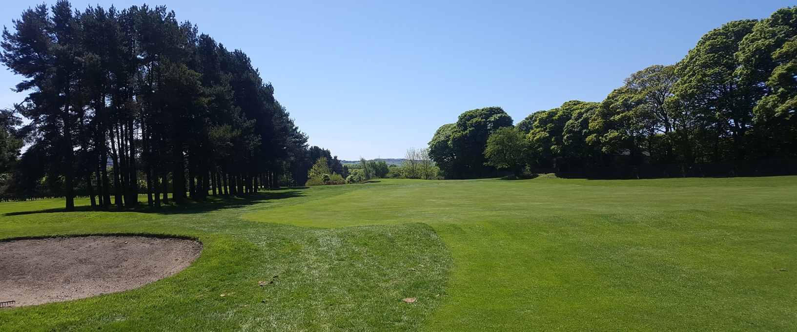 The fairway on Hole 2, West Bradford Golf Club