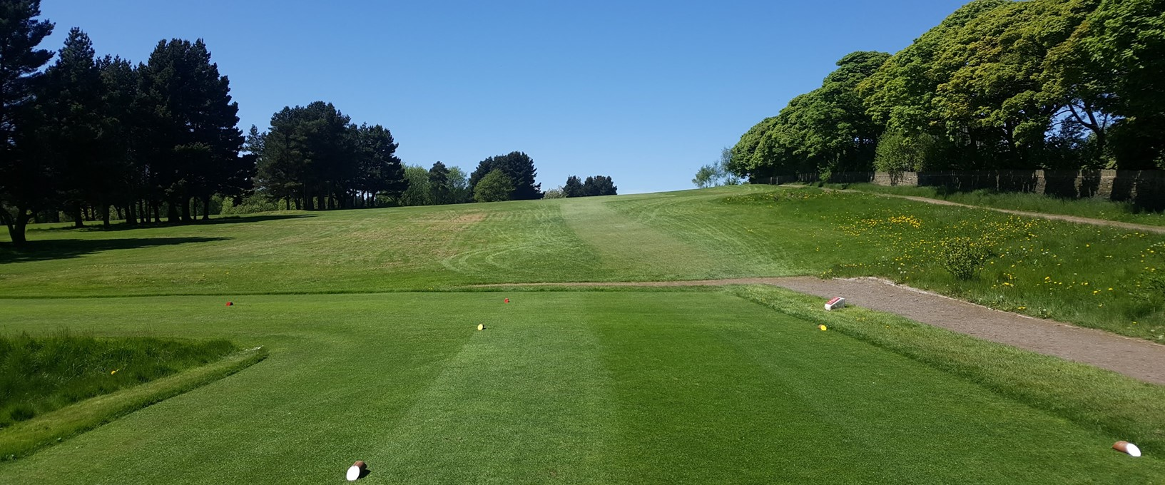 Tee box on Hole 3, West Bradford Golf Club