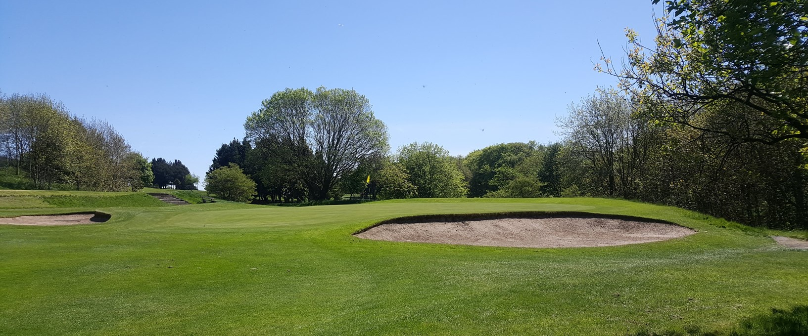 The 5th green at West Bradford Golf Club