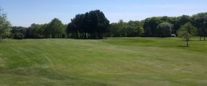The natural undulations of the 6th fairway