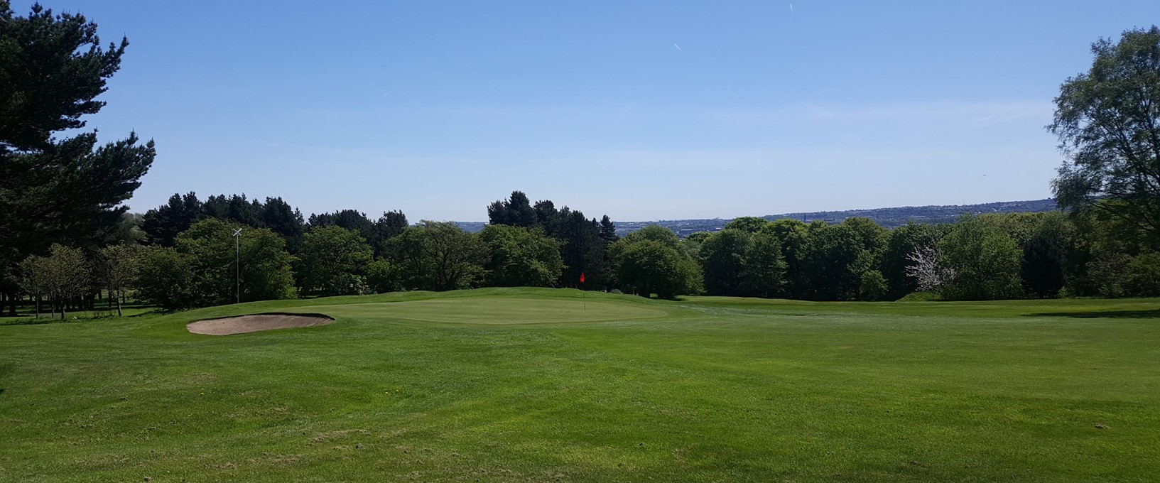 The 6th green at West Bradford Golf Club