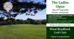 The Ladies Open at West Bradford